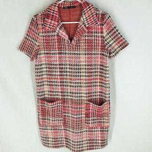 Zara Multi Color Tweed Dress with Pockets